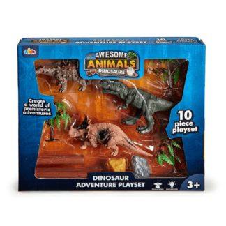 Awesome Animals Tyrannosaurus Rex Dinosaur Adventure Playset