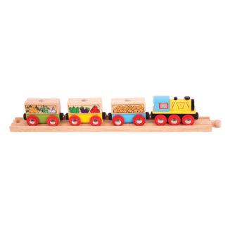 Bigjigs Rail Fruit & Vegetable Train