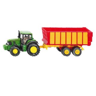 Die-Cast 1:87 John Deere Tractor With Silage Trailer