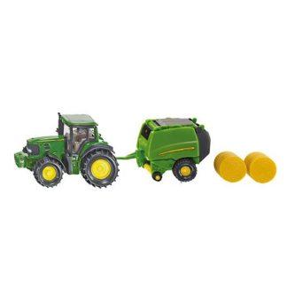 Die-Cast John Deere Tractor With Baler