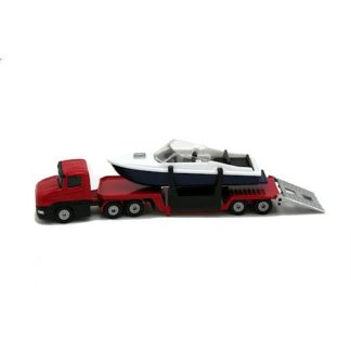 Die-Cast Low Loader Truck With Speed Boat