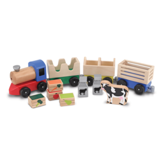 Melissa & Doug - Wooden Farm Train