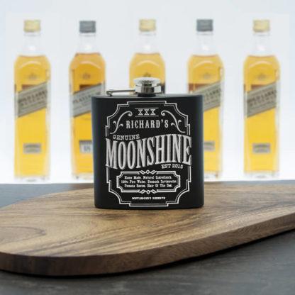 Personalised Moonshine Vintage Hip Flask
