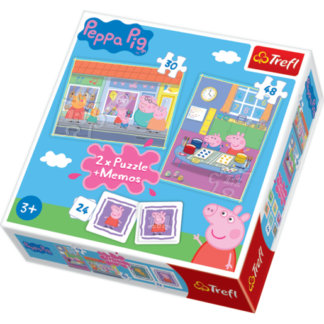 TREFL Peppa Pig 2 x 24 Piece Puzzle Memos