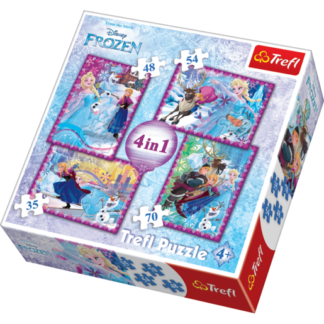 Trefl Disney Frozen 4in1 - Puzzles