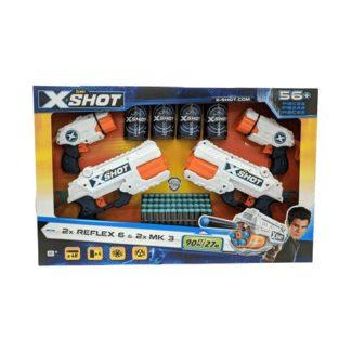 X-Shot 4 Pack - 2 x Reflex 6 and 2 x MK3