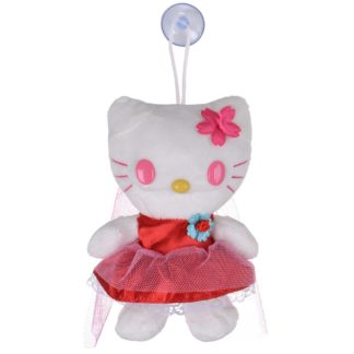 """7"""" Soft Plush Hello Kitty Toy With Suction Cup Window Mirror Pink Veil"""