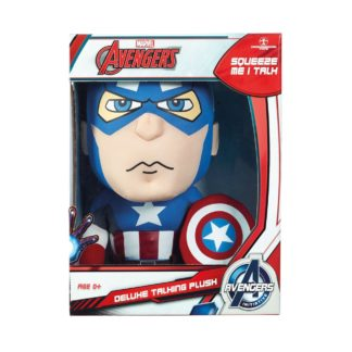 "Avengers Deluxe Talking Plush 15"" Captain America Iron Man"