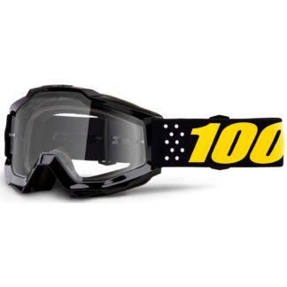 100% Accuri Anti Fog Clear Lens MTB Goggles - Pistol Clear/Black