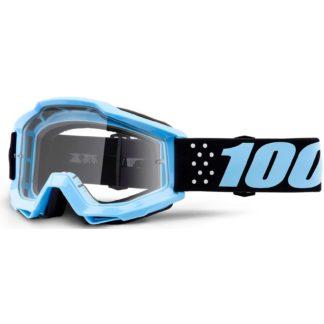 100% Accuri Anti Fog Clear Lens MTB Goggles - Taichi Clear/Blue