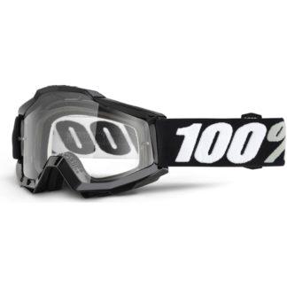 100% Accuri Anti Fog Clear Lens MTB Goggles - Tornado Clear/Black