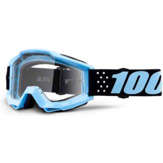 100% Accuri Youth Anti Fog Clear Lens MTB Goggles - Taichi Clear/Blue