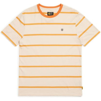 Brixton Deputy Knit T Shirt - Orange/Tan