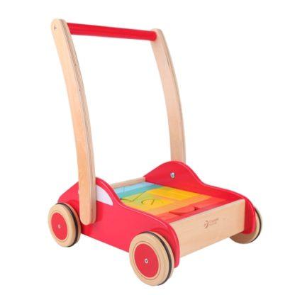 Classic World Speed Car push along walker with blocks