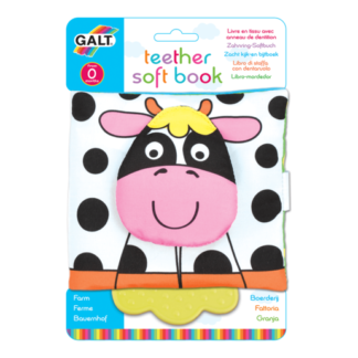 Galt Teether Soft Book - Farm
