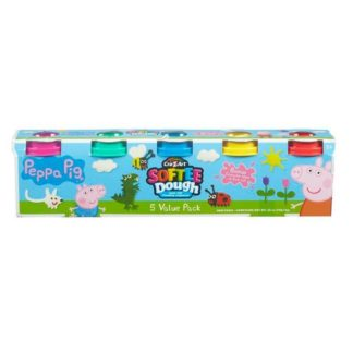 Peppa Pig 5 tub Softee Dough Pack