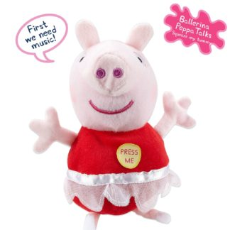 Peppa Pig 7 inch Talking Ballerina Peppa Soft Toy