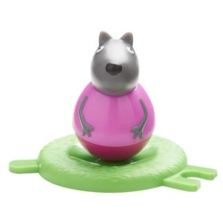 Peppa Pig Weebles toys Wobbily Figure and Base - Wendy Wolf