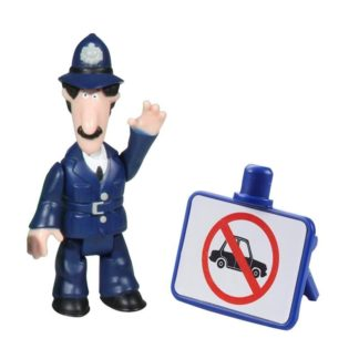 Postman Pat Figure & Accessory - PC Selby and No Cars Sign