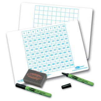 Show-me 100 Square Gridded Board - Pack of 100
