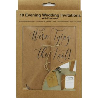 Product shot 10 Kraft Evening Wedding Invitations With Envelopes
