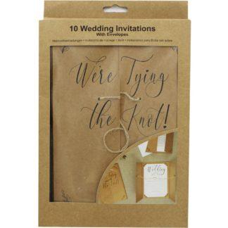 Product shot 10 Kraft Wedding Invitations With Envelopes