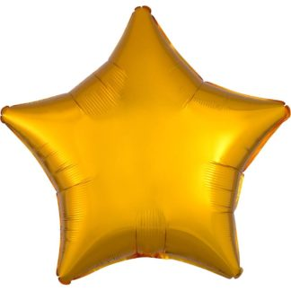 Product shot 18 Inch Gold Star Helium Balloon