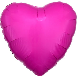 Product shot 18 Inch Pink Heart Helium Balloon