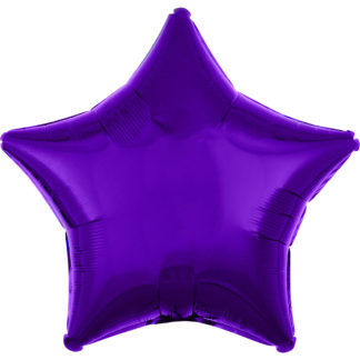 Product shot 18 Inch Purple Star Helium Balloon