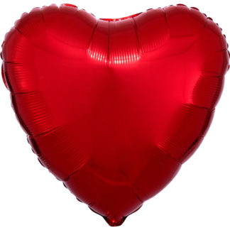 Product shot 18 Inch Red Heart Helium Balloon