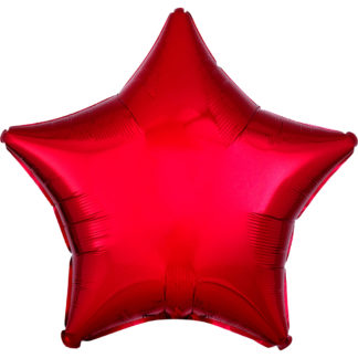 Product shot 18 Inch Red Star Helium Balloon