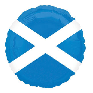 Product shot 18 Inch Scottish Flag Helium Balloon