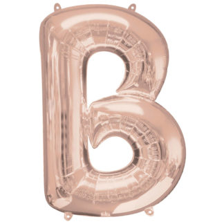 Product shot 34 Inch Rose Gold Letter B Helium Balloon