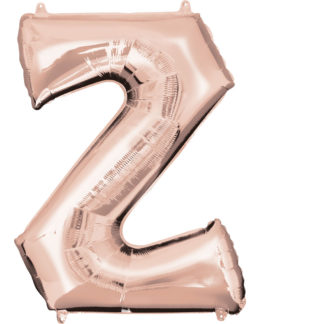 Product shot 34 Inch Rose Gold Letter Z Helium Balloon