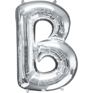 Product shot 34 Inch Silver Letter B Helium Balloon