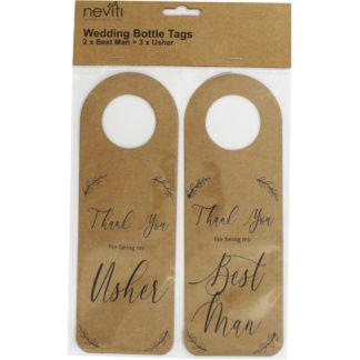 Product shot 5 Kraft Wedding Bottle Tags