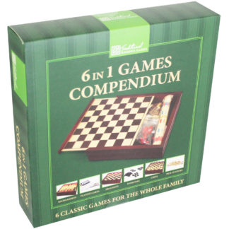 Product shot 6 In 1 Wooden Game Compendium