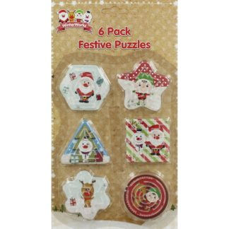 Product shot 6 Mini Festive Puzzles - Assorted