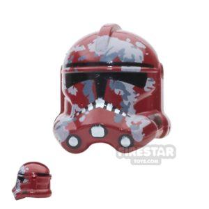 Product shot Arealight - Camo Trooper Helmet - Dark Red
