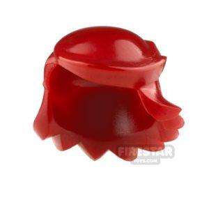 Product shot Arealight Mini Figure Hair - Breezy Hair - Dark Red
