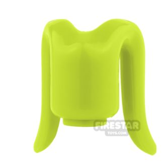 Product shot Arealight Mini Figure Heads - Lime - Plain