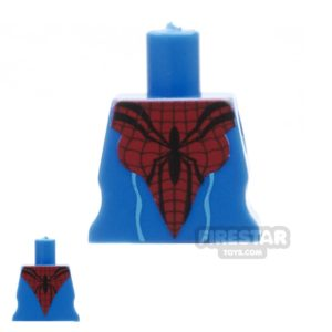 Product shot Arealight Mini Figure Torso - Arachne Dress - Blue and Red