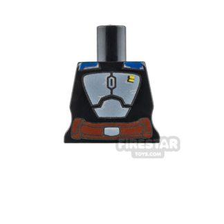 Product shot Arealight Mini Figure Torso - BO2 Suit - Black