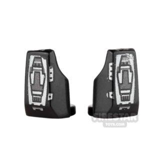 Product shot Arealight - Vambraces - VIZ - Pair - Black