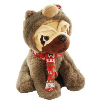 Product shot Bear Hooded Snuggly Pug Soft Toy