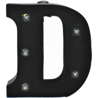 Product shot Black Light-Up Mini Marquee Letter - D