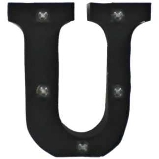Product shot Black Light-Up Mini Marquee Letter - U
