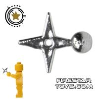 Product shot Brick Command - Ninja Star - Chrome Silver