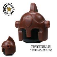 Product shot BrickForge - Battle Helmet - Brown