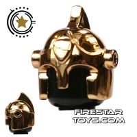 Product shot BrickForge - Battle Helmet - Chrome Gold